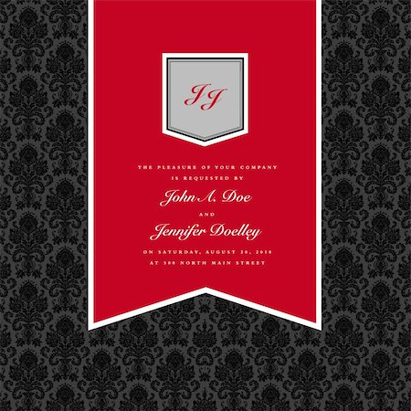 Vector Red Pennant Frame and Background. Easy to edit. Perfect for invitations or announcements. Stock Photo - Budget Royalty-Free & Subscription, Code: 400-05886855