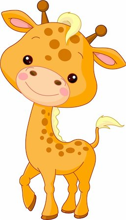 simsearch:400-04598294,k - Fun zoo. Illustration of cute Giraffe Stock Photo - Budget Royalty-Free & Subscription, Code: 400-05888206