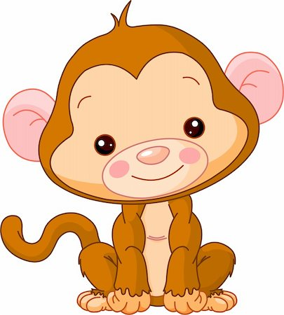 simsearch:400-04598294,k - Fun zoo. Illustration of cute Monkey Stock Photo - Budget Royalty-Free & Subscription, Code: 400-05888201
