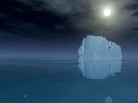 High Resolution Iceberg in open sea Stock Photo - Budget Royalty-Free & Subscription, Code: 400-05888390