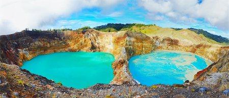flores - Volcanic lakes Ato Polo and Nuamuri koofai . National park Kelimutu. Stock Photo - Budget Royalty-Free & Subscription, Code: 400-05888480