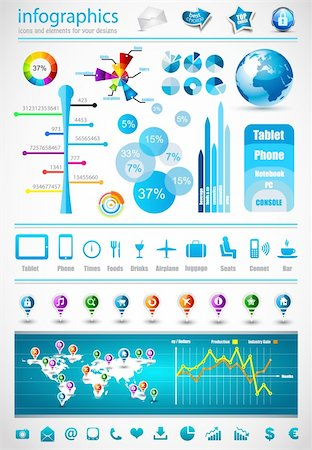 report icon - Premium infographics master collection: graphs, histograms, arrows, chart, 3D globe, icons and a lot of related design elements. Stock Photo - Budget Royalty-Free & Subscription, Code: 400-05888873