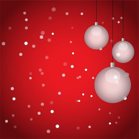 falling confetti with white background - Christmas balls and snowflakes, vector illustration, eps10 Stock Photo - Budget Royalty-Free & Subscription, Code: 400-05889782