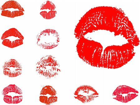 vector kiss icons Stock Photo - Budget Royalty-Free & Subscription, Code: 400-05880727