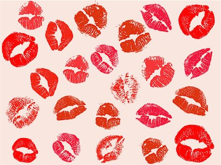 vector kiss background Stock Photo - Budget Royalty-Free & Subscription, Code: 400-05880728
