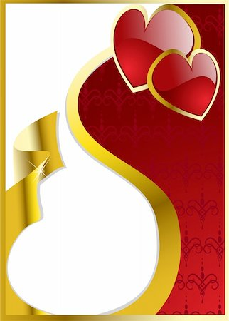 vector valentine's hearts eps 8 Stock Photo - Budget Royalty-Free & Subscription, Code: 400-05880847