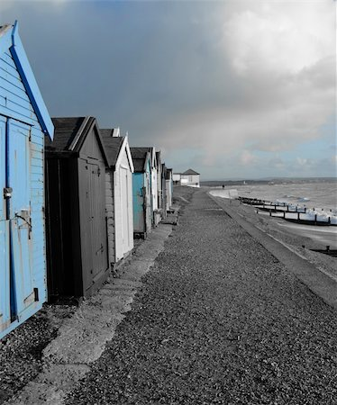 simsearch:400-04638538,k - Coastal Beach Huts Stock Photo - Budget Royalty-Free & Subscription, Code: 400-05881319