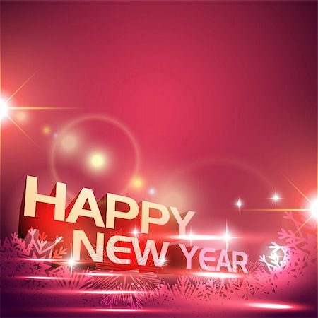 stylish vector happy new year design Stock Photo - Budget Royalty-Free & Subscription, Code: 400-05881844