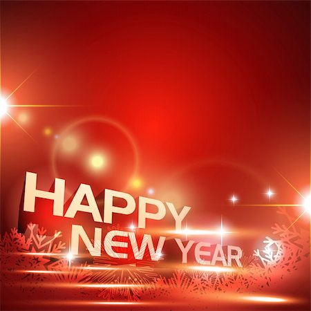 glowing 2012 happy new year vector art Stock Photo - Budget Royalty-Free & Subscription, Code: 400-05881845