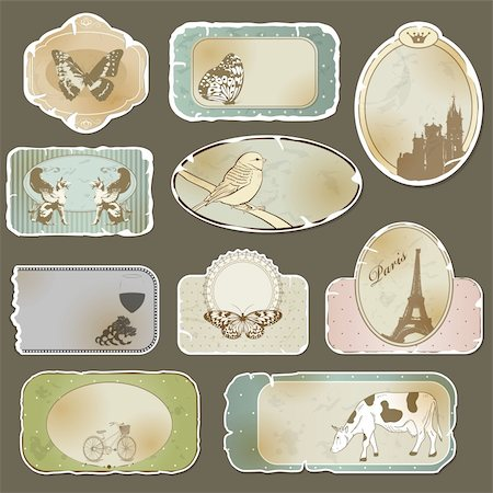 Vintage label set Stock Photo - Budget Royalty-Free & Subscription, Code: 400-05883636