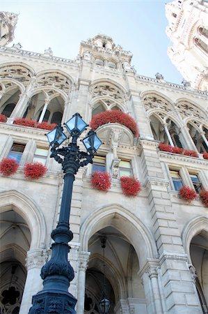 Vienna city hall, Austria Stock Photo - Budget Royalty-Free & Subscription, Code: 400-05883743