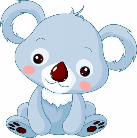 simsearch:400-04598294,k - Fun zoo. Illustration of cute Koala Bear Stock Photo - Budget Royalty-Free & Subscription, Code: 400-05894227