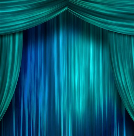 rolffimages (artist) - Theater Curtains Stock Photo - Budget Royalty-Free & Subscription, Code: 400-05895925