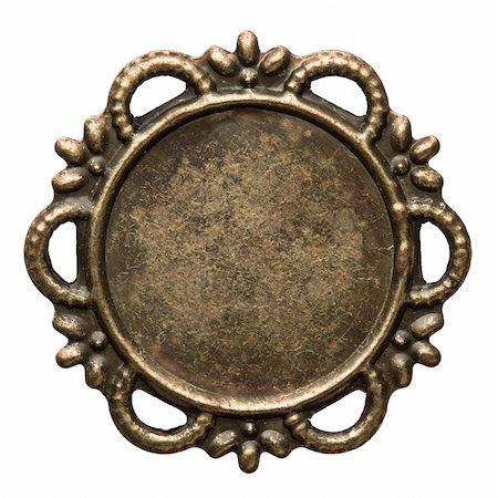Vintage brass metal frame, isolated. Stock Photo - Budget Royalty-Free & Subscription, Code: 400-05895980