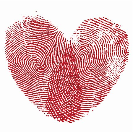svetap (artist) - Vector heart, man and woman fingerprint valentine romantic background. Design element. Stock Photo - Budget Royalty-Free & Subscription, Code: 400-05896046