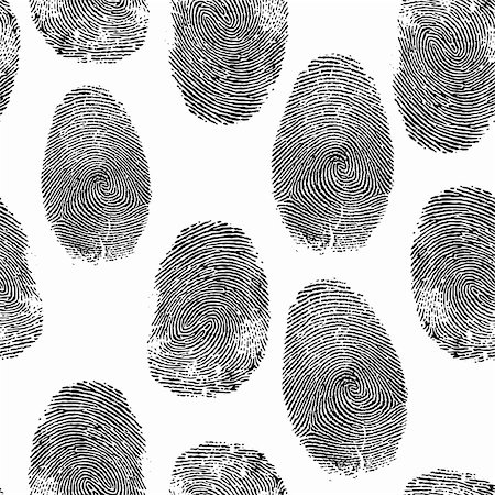 svetap (artist) - Vector thumb print background. Thumbprint, fingerprint seamless wallpaper. Crime, dactylography illustration. Stock Photo - Budget Royalty-Free & Subscription, Code: 400-05896042
