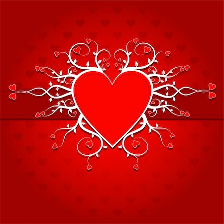 Template heart greeting card, vector illustration Stock Photo - Budget Royalty-Free & Subscription, Code: 400-05896179