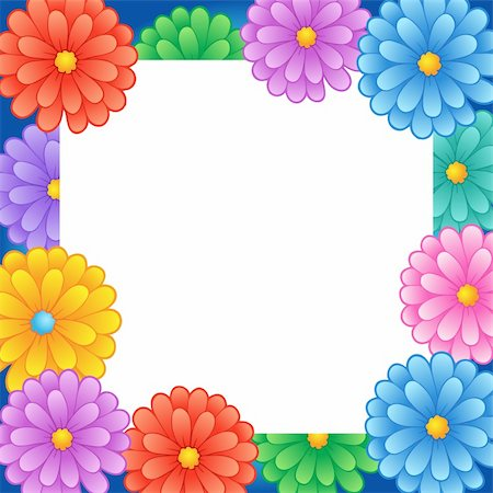 Frame with flower theme 1 - vector illustration. Stock Photo - Budget Royalty-Free & Subscription, Code: 400-05897092