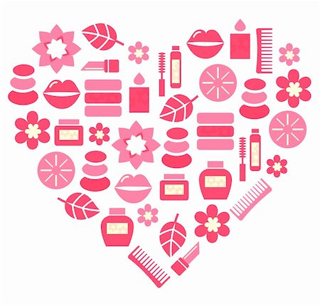 Stylized pink heart. Vector illustration. Stock Photo - Budget Royalty-Free & Subscription, Code: 400-05897175
