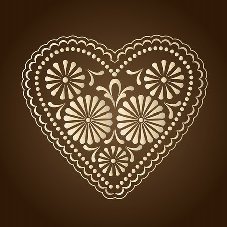 simsearch:400-04872199,k - decorated with hearts on a brown background Stock Photo - Budget Royalty-Free & Subscription, Code: 400-05897428
