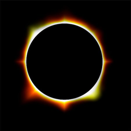 illustration of an eclipse Stock Photo - Budget Royalty-Free & Subscription, Code: 400-05898365