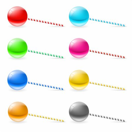 simsearch:400-04344039,k - Set of lollipops. Illustration on white background for design Stock Photo - Budget Royalty-Free & Subscription, Code: 400-05899092