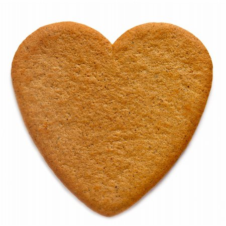 Gingerbread cookie in the shape of a  heart Stock Photo - Budget Royalty-Free & Subscription, Code: 400-05899698