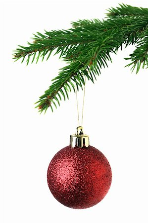 Christmas ornament on the tree Stock Photo - Budget Royalty-Free & Subscription, Code: 400-05899715