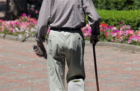 Portrait of senior man walking  in park Stock Photo - Budget Royalty-Free & Subscription, Code: 400-05899720