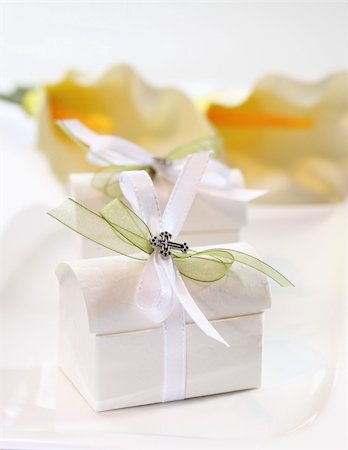 Small present for guests by first holy communion Stock Photo - Budget Royalty-Free & Subscription, Code: 400-05890927