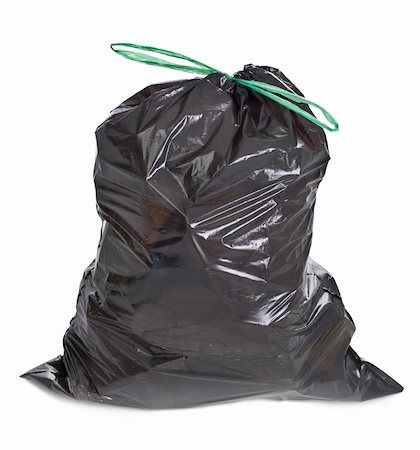 tied garbage bag on white background Stock Photo - Budget Royalty-Free & Subscription, Code: 400-05891350