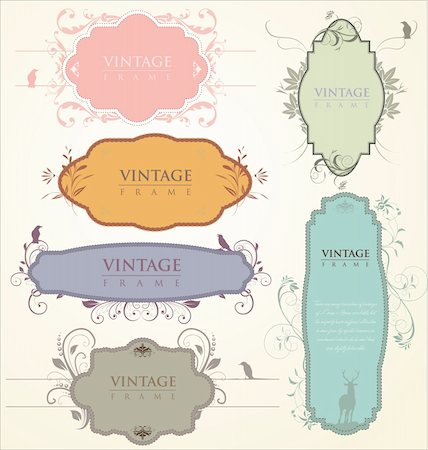 Vintage frames Stock Photo - Budget Royalty-Free & Subscription, Code: 400-05891450