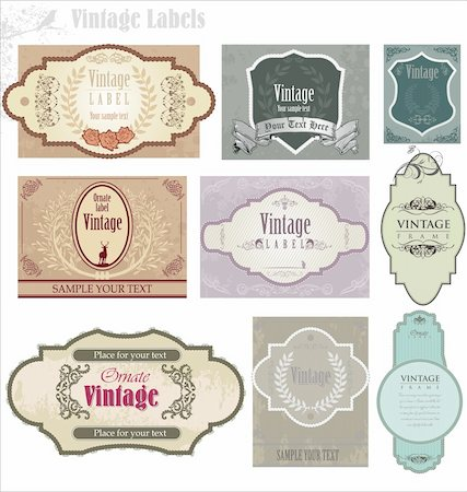 Vintage frames Stock Photo - Budget Royalty-Free & Subscription, Code: 400-05891452