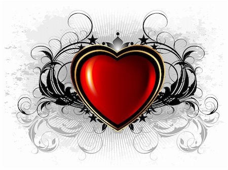 heart frame, this illustration may be useful as designer work Stock Photo - Budget Royalty-Free & Subscription, Code: 400-05892224
