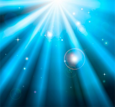 sparks with white background - Bright blue light rays shining down with lens flare background Stock Photo - Budget Royalty-Free & Subscription, Code: 400-05893940