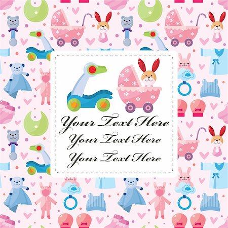 cartoon baby card Stock Photo - Budget Royalty-Free & Subscription, Code: 400-05904613