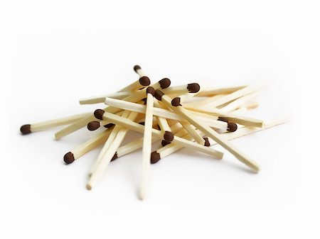 matches on white background Stock Photo - Budget Royalty-Free & Subscription, Code: 400-05904685