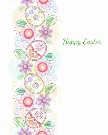 Easter color theme on white background Stock Photo - Budget Royalty-Free & Subscription, Code: 400-05905450
