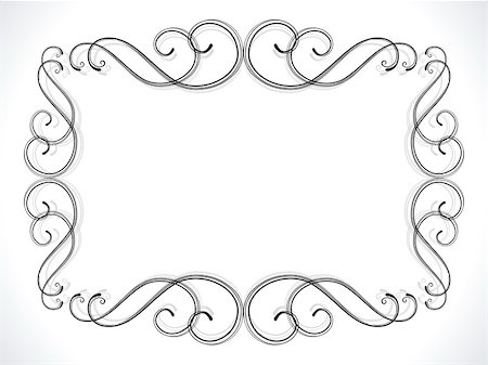 abstract floral ornamental border vector illustration Stock Photo - Budget Royalty-Free & Subscription, Code: 400-05905528