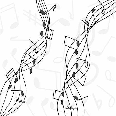 simsearch:400-04676325,k - musical notes staff vector illustration Stock Photo - Budget Royalty-Free & Subscription, Code: 400-05905771