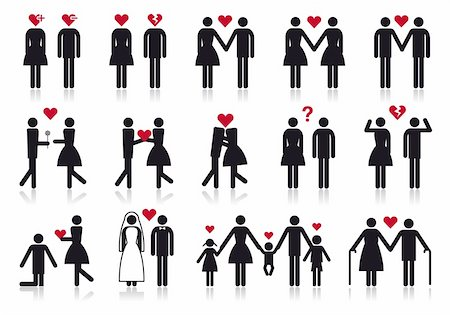 love and relationship, vector people icon set Stock Photo - Budget Royalty-Free & Subscription, Code: 400-05906274