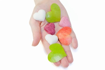 simsearch:400-04344039,k - Collection of hearts on the hand Stock Photo - Budget Royalty-Free & Subscription, Code: 400-05907967