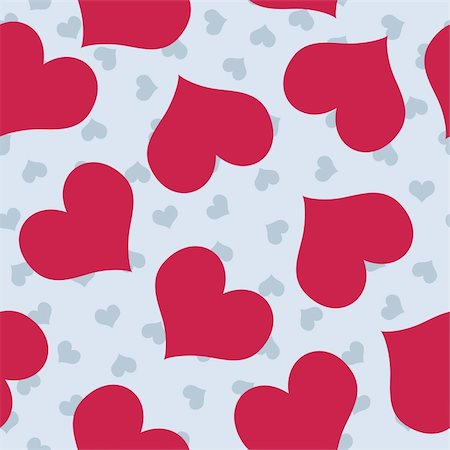 scalable - Valentines background pattern with blue and dark pink hearts Stock Photo - Budget Royalty-Free & Subscription, Code: 400-05908074
