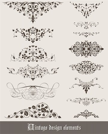 filigree - Vintage decoration elements for your design Stock Photo - Budget Royalty-Free & Subscription, Code: 400-05909148