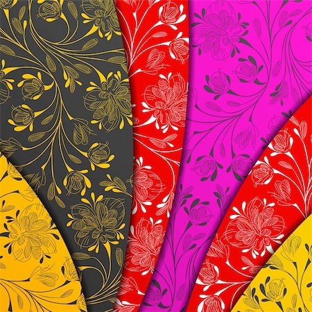 colored layers, abstract background, stylized flowers Stock Photo - Budget Royalty-Free & Subscription, Code: 400-05909656