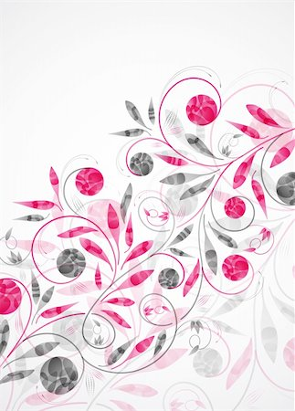 funky flower designs - floral background, vector abstract background Stock Photo - Budget Royalty-Free & Subscription, Code: 400-05909663