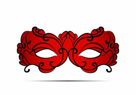 Carnival mask on white background Stock Photo - Budget Royalty-Free & Subscription, Code: 400-05909746