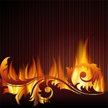 Black background with flame.EPS10. Mesh. Stock Photo - Budget Royalty-Free & Subscription, Code: 400-05909965