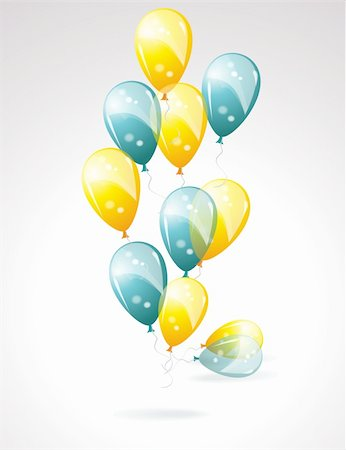 party celebration paper confetti - Balloons Stock Photo - Budget Royalty-Free & Subscription, Code: 400-05901697