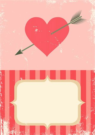 simsearch:400-04863562,k - Retro illustration of the heart with an arrow Stock Photo - Budget Royalty-Free & Subscription, Code: 400-05901748